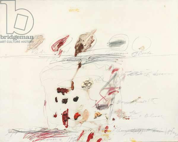 Untitled, 1962 (oil, graphite and wax crayon on canvas)