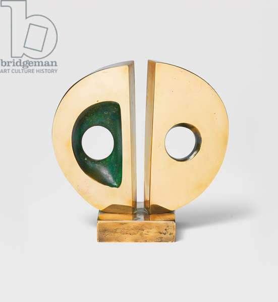Miniature Divided Circle, 1971 (bronze with a polished and green patina)