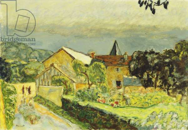 Afternoon Landscape in August, 1915 (oil on canvas)