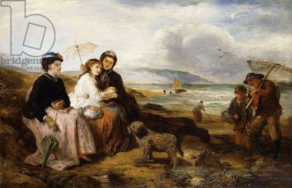 At the Seaside, 1877 (oil on canvas)
