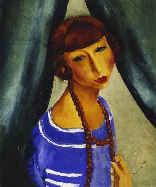 Portrait of Margueritte Gros, Sister-in-law of the artist; Portrait de Margueritte Gros, la Belle-Soeur de l'Artiste, 1919 (oil on canvas)
