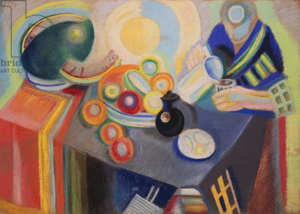 The Portuguese Jug, 1916 (pastel on paper laid down on canvas)
