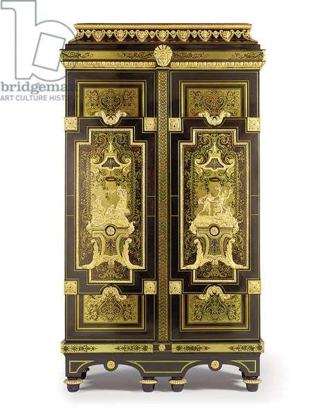 Louis XIV armoire 'De l'Histoire d'Apollon', c.1695-1700 (ormolu, ebony, brass, tortoiseshell, blue-stained horn & pewter)