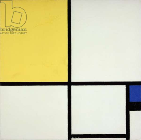 Composition with Blue and Yellow; Composition avec Bleu et Jaune, 1931 (oil on canvas)