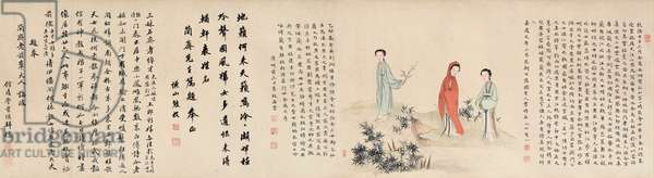 Yuan Mei and his female students (ink & colour on silk) (see also 745558-62)