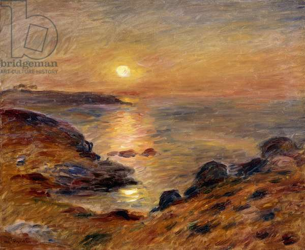 The Setting of the Sun at Douarnenez; Couche de Soleil a Douarnenez, 1883 (oil on canvas)