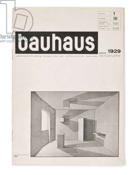 Number 1, Volume 3 of the 'Bauhaus' magazine, 1929 (lithograph)