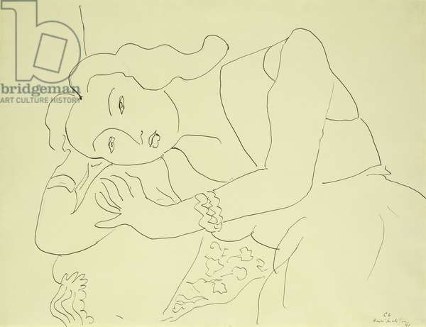 Head of a Woman; Tete de Femme, 1941 (pen and India ink on paper)