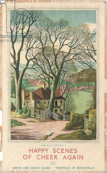 Harrow Weald, a Green Line Coach advertising poster, 1931 (colour lithograph)