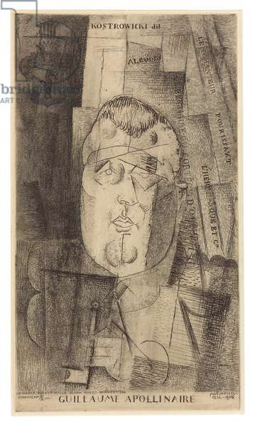 Portrait of Guillaume Apollinaire, 1912-20 (etching, aquatint & drypoint)