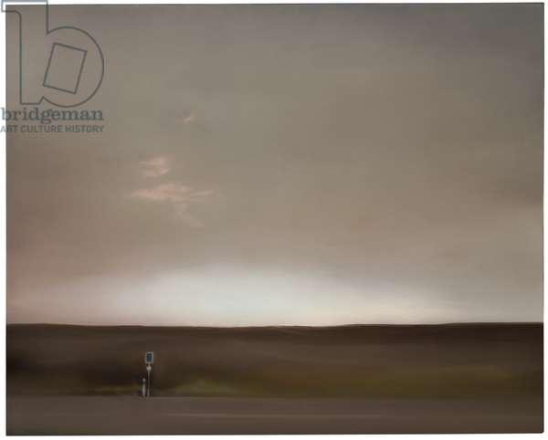 Eifel Landscape (Street); Eifellandschaft (Strasse), 1969 (oil on canvas)