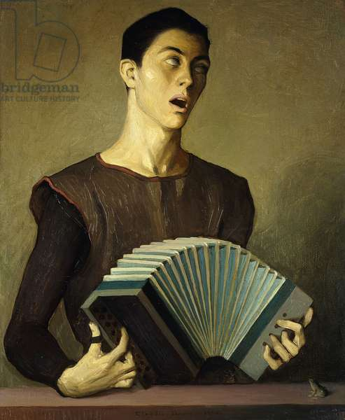 El Musico Ciego, (The Blind Musician), 1965 (oil on canvas)