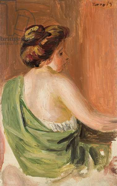 Woman from the Back,  (oil on canvas)