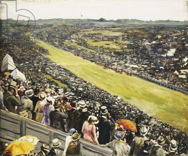 The Derby, 1922 (oil on canvas)