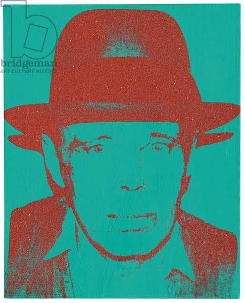 Portrait of Joseph Beuys, 1983 (acrylic, silkscreen inks and diamond dust on canvas)