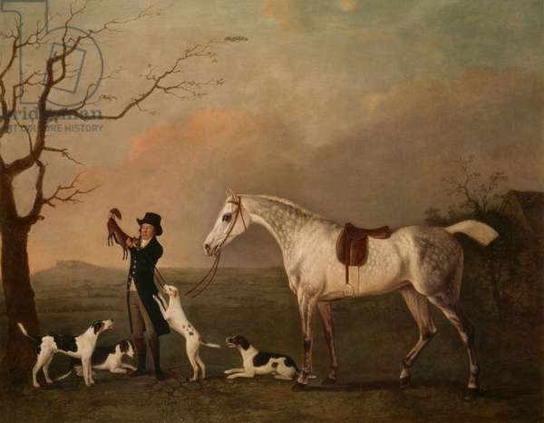 Mr Deverill with his favourite hunter, Gay Lass, 1793