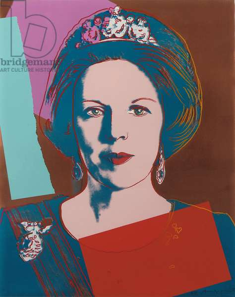 Queen Beatrix of the Netherlands, from 'Reigning Queens', 1985 (screenprint) (see also 701268-70)