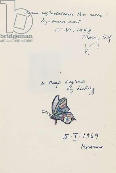 Grozd. Stikhi. [A Bunch. Poems.] Berlin: Gamaiun, 1923 (pen & ink on paper)