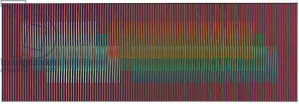 Physichromie 2266, Caracas, 1989 (silkscreen on aluminum and plastic inserts)