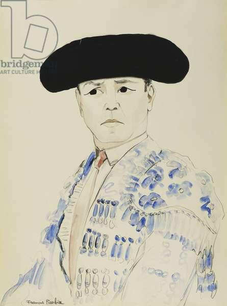 The Matador Gitanillo de Triana; Le Toreador Gitanillo de Triana, (pencil and watercolour on paper)