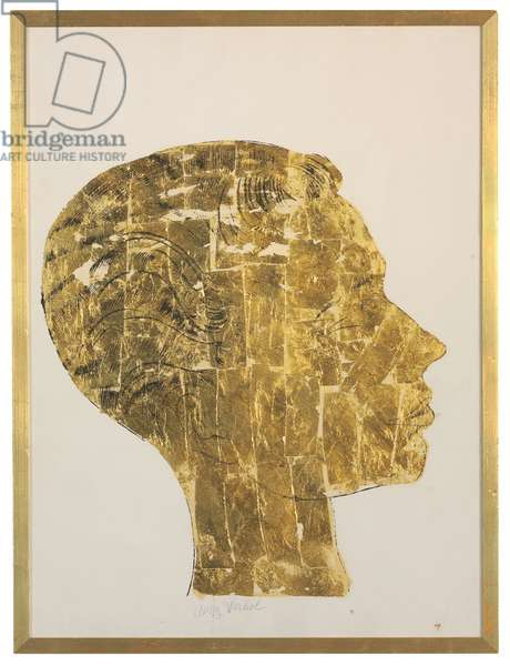Untitled, 1957 (ink and gold leaf on paper)