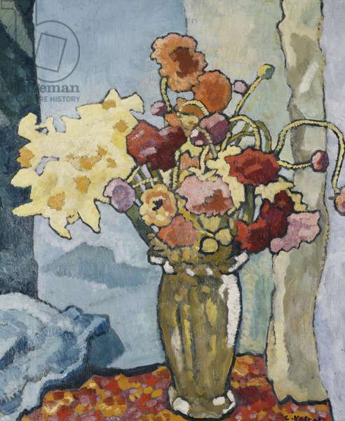 Flowers in a Vase; Fleurs dans un Vase, c.1939 (oil on canvas)