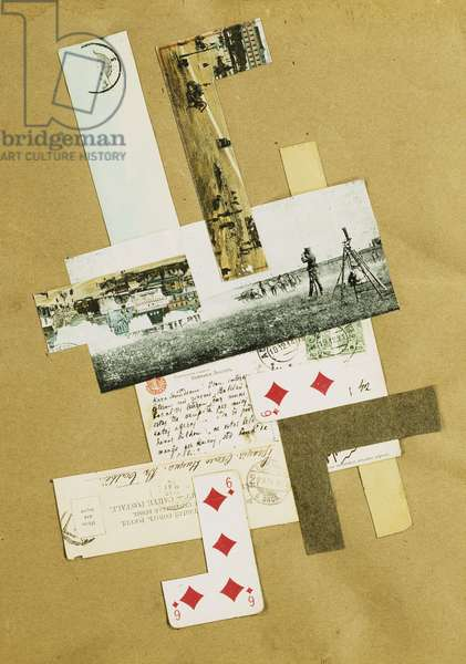 Composition, c.1920 (collage on brown paper)