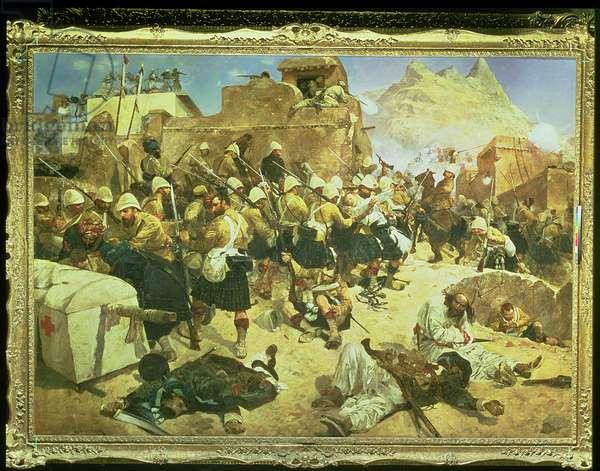 Candahar: The 92nd Highlanders and the 2nd Gurkhas Storming Gaudi Mullah Sahibdad (oil on canvas)