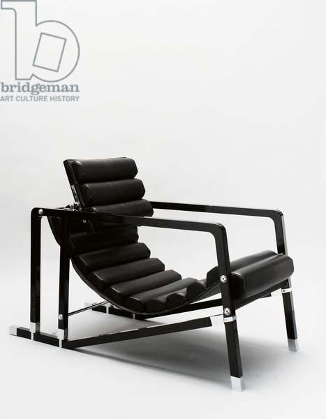 'Transat' armchair (lacquered wood & leather)