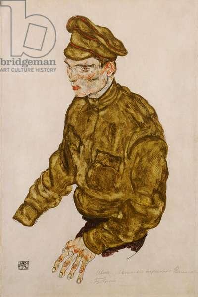 Russian Prisoner of War, 1916 (gouache & pencil on buff paper)