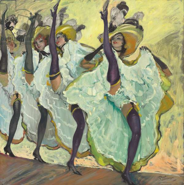 Les Danseuses de French Cancan (oil on canvas)