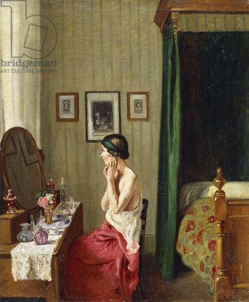 At the Dressing-Table, 1925 (oil on canvas)