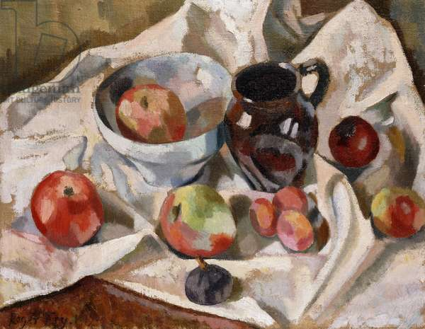 Still Life with Apples, Plums and a Jug, 1919 (oil on canvas)