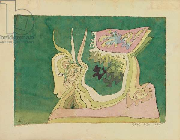 Because Everything Flows; Weil Alles Fliesst, c.1929 (watercolour, pen and ink on paper)
