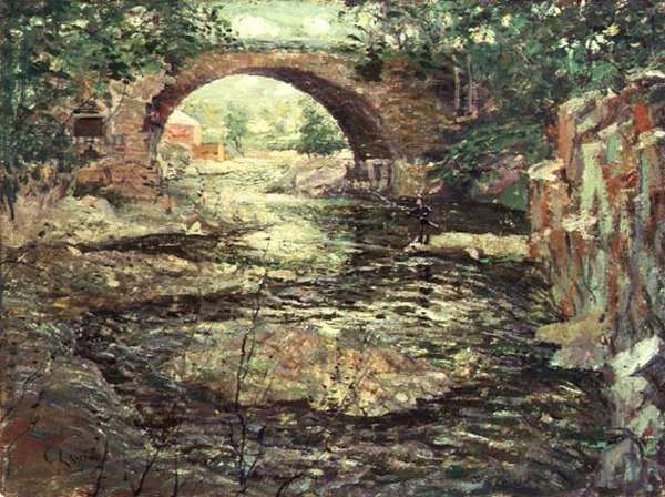 Old Stone Bridge (oil on canvas)