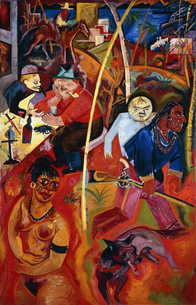 Wildwest, 1916 (oil on canvas)