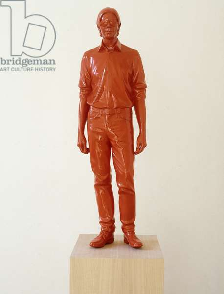 Don (Orange), 1997 (plaster and acrylic on wooden plinth)