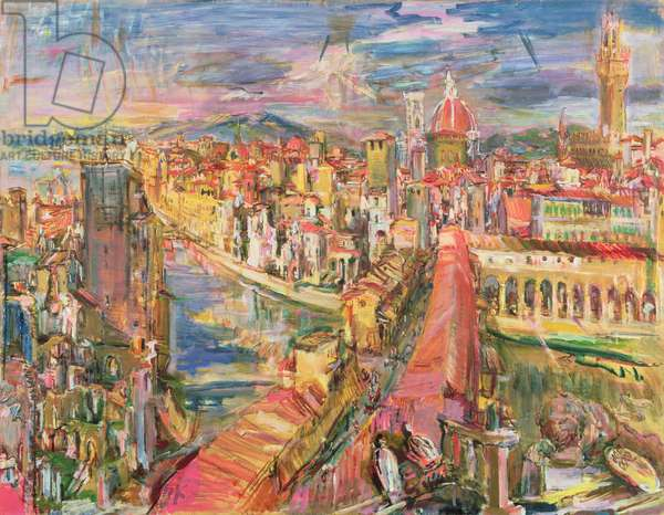 Florence: View from the Torre dei Manelli, 1948 (oil on canvas)