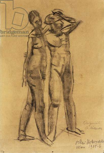 Two Nudes; Zwei Akte, 1905-06 (charcoal on buff paper)