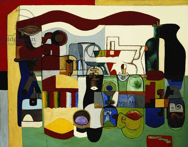 Large Still Life; Grande Nature Morte, 1953 (oil on canvas)