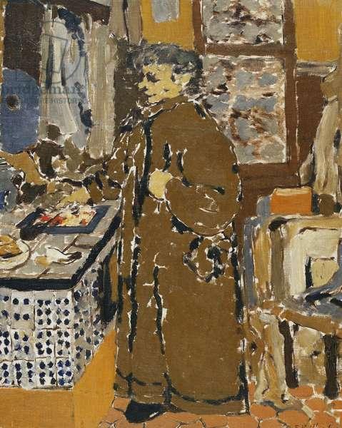 Mme Vuillard dans un Interieur, c.1895 (oil on canvas)