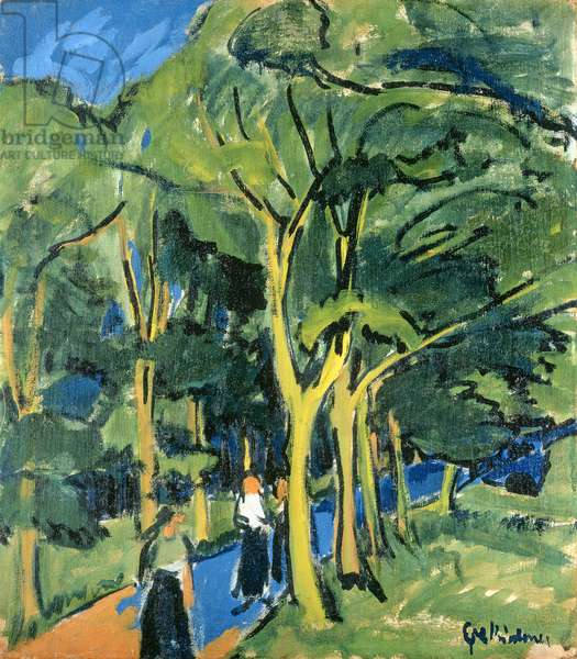 Waldstrasse, c.1910 (oil on canvas)