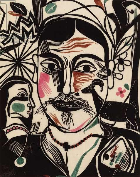Der Hirt, 1920 (handcoloured)