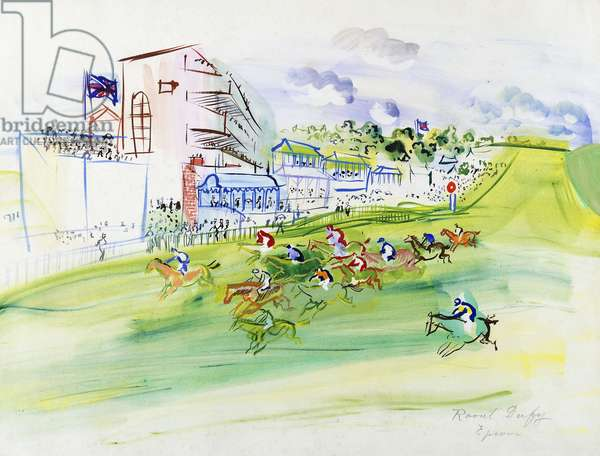 Races at Epsom; Les Courses a Epsom, (watercolour on paper)