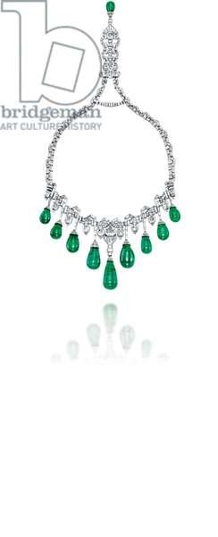 Art Deco Emerald & Diamond Necklace, 1929 (emeralds & diamonds set in platinum)