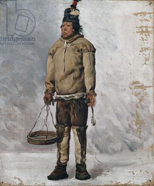 An Eskimo (oil on canvas)