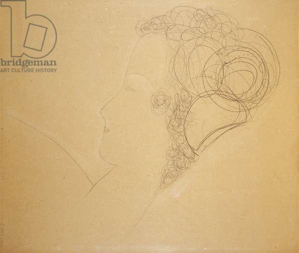 Portrait de Femme, c.1918 (pencil on paper)