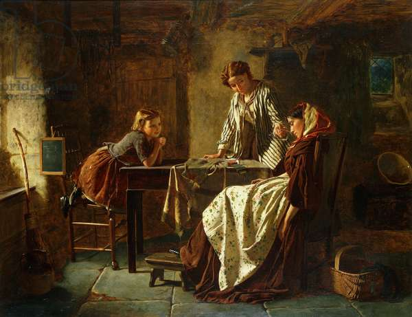 The Tired Seamstress, 1866 (oil on canvas)