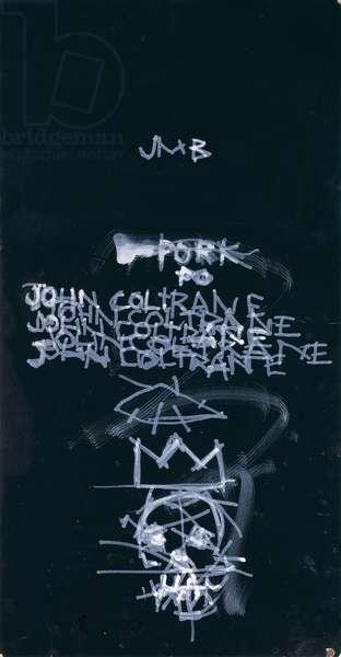John Coltrane, 1981 (ink on board)