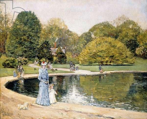 Central Park,  (oil on canvas)
